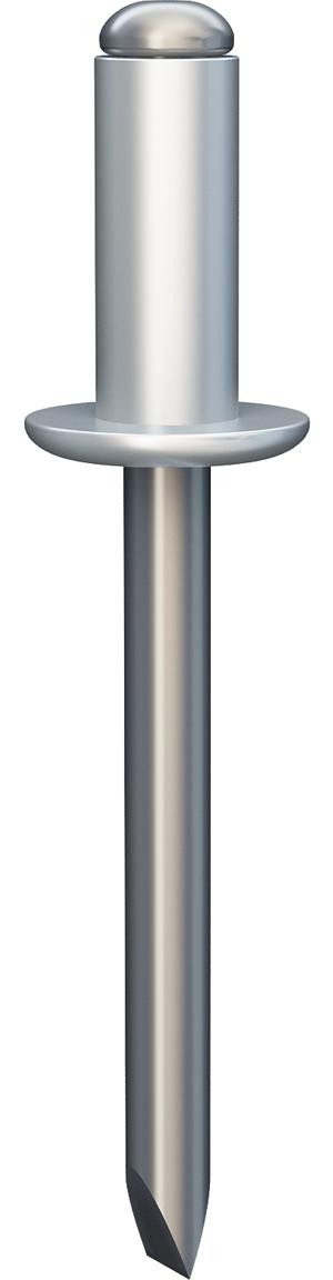 А/А2. Вытяжная заклёпка с открытым концом, отрывающимся сердечником