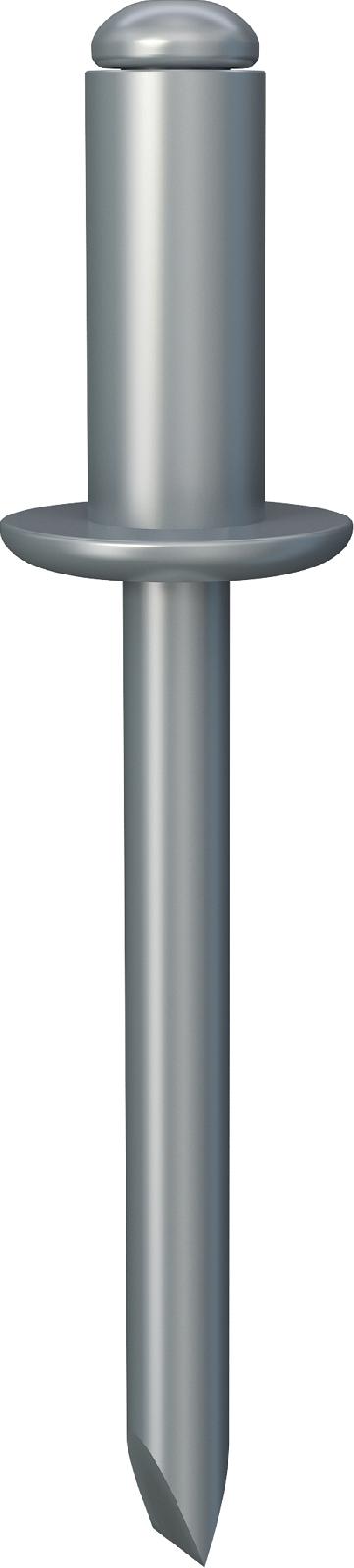 УС/УС. Вытяжная заклёпка с открытым концом, отрывающимся сердечником