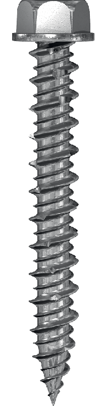 Screw for fastening into concrete or brick foundation