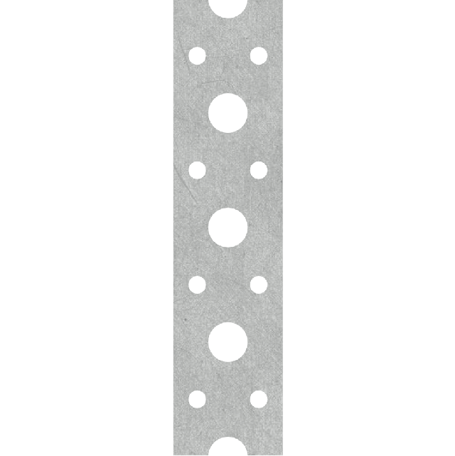 Metal perforated tape for fastening systems of non-insulated penetration, water and heat supply through enclosure structures