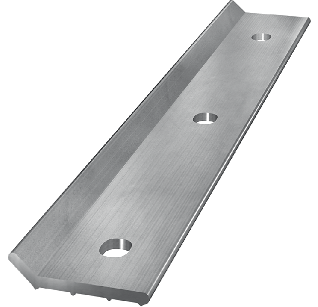 Metal strip with increased edge