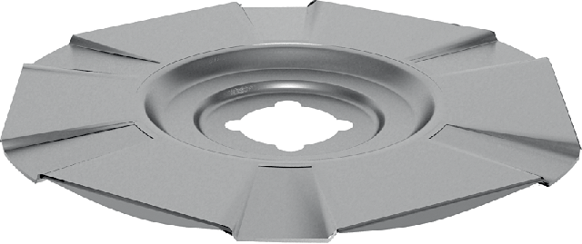 Disk-shaped holder for guaranteed fixing of fire retardant heat-insulating boards