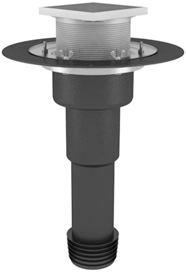 Heated roof maintenance funnel, to be assembled with steel, iron or plastic pipes ∅110 mm, completed with a sealing cup and a gulley with a thrust ring
