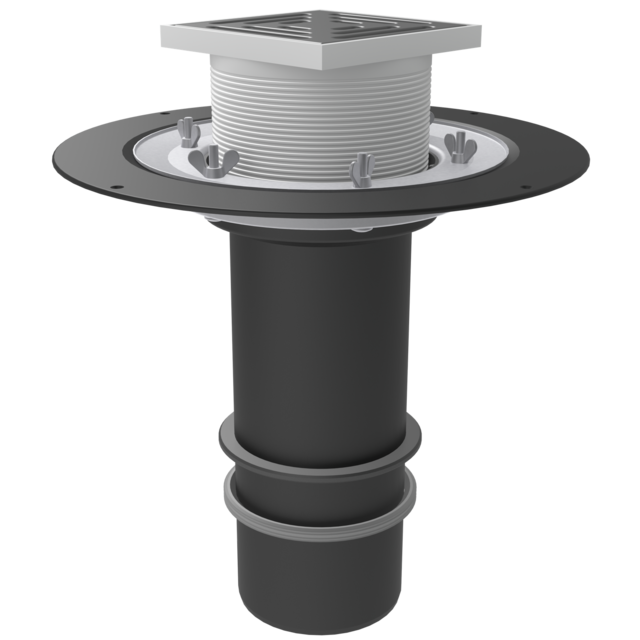 Put-on element with crimp flange, lockring and gulley with thrust ring