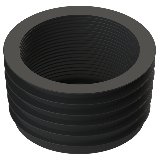 Elastic sealing cup for assembly of roof funnels