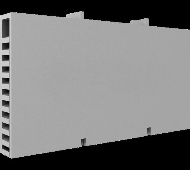 A polymer air chute with an air labyrinth for the brick face facade